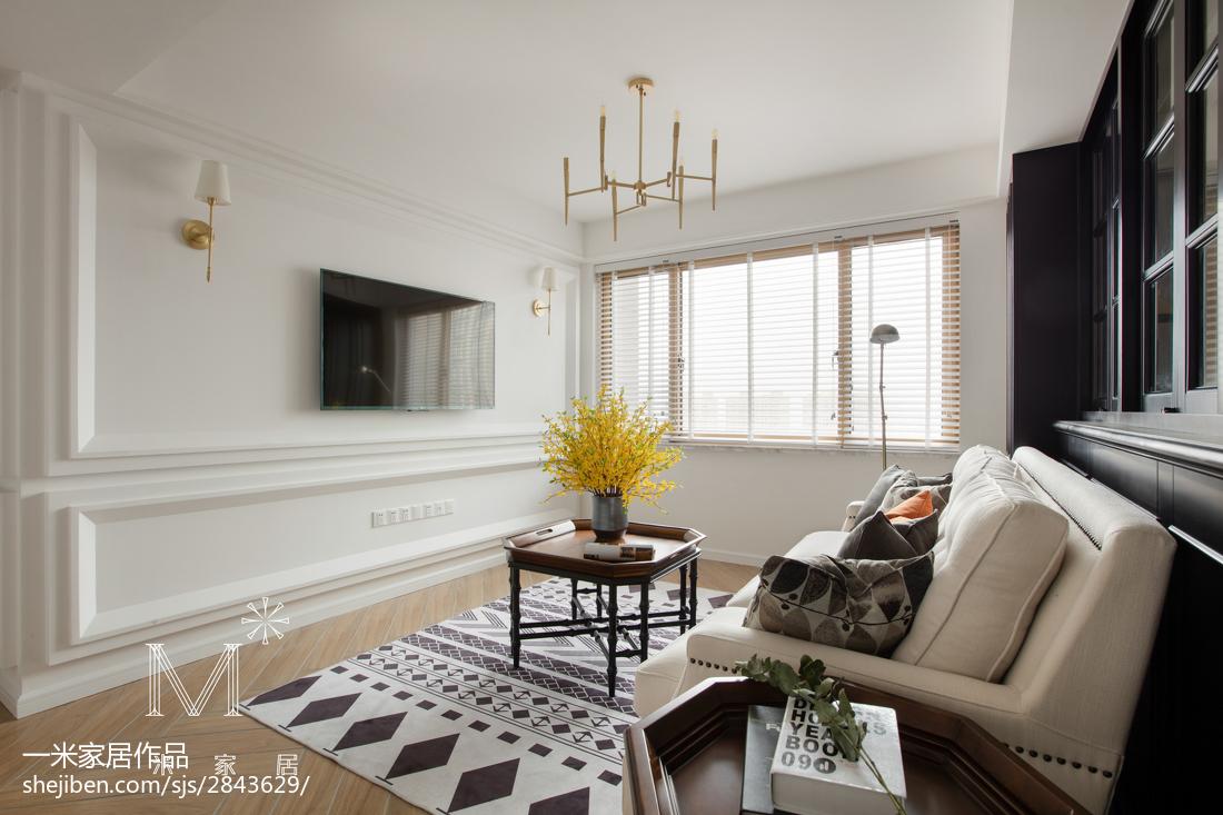 精美97平米三居客厅美式实景图