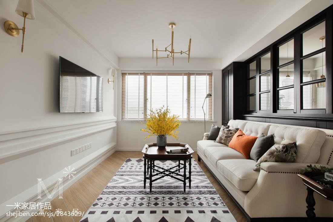 精美面积108平美式三居客厅装修欣赏图片