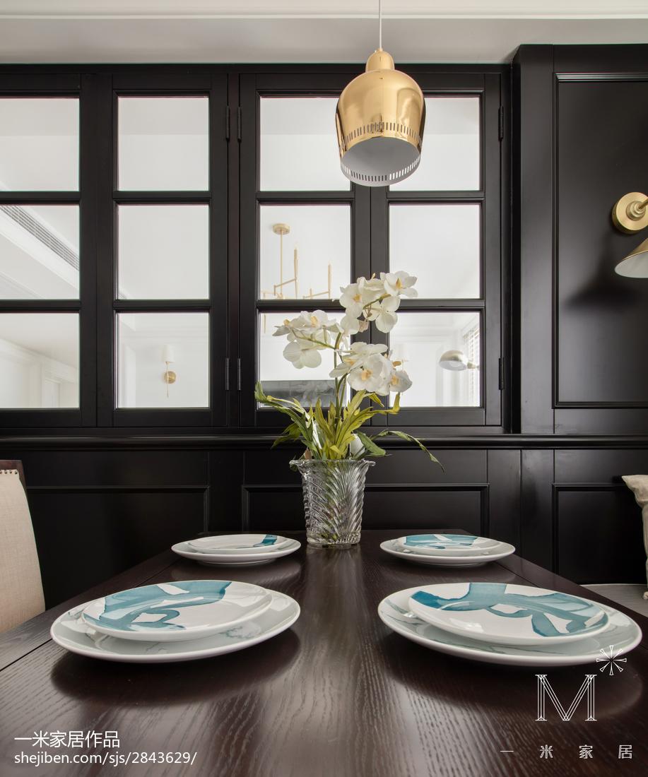 浪漫107平美式三居餐厅装饰图片