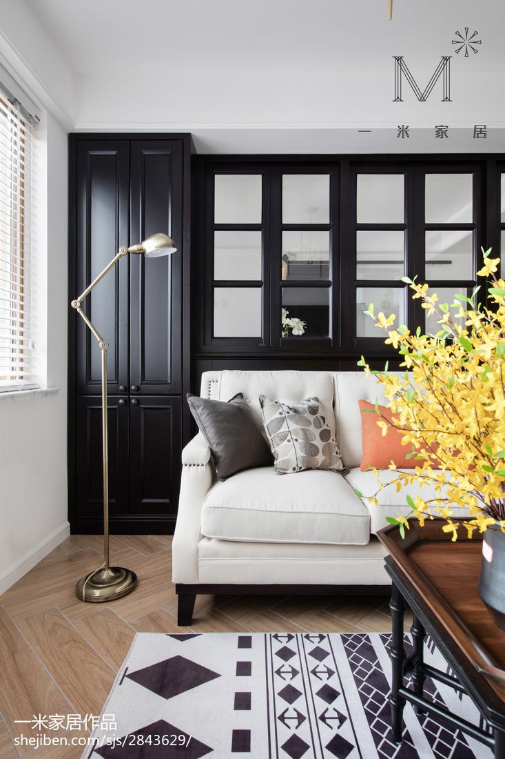 优雅117平美式三居客厅装修设计图