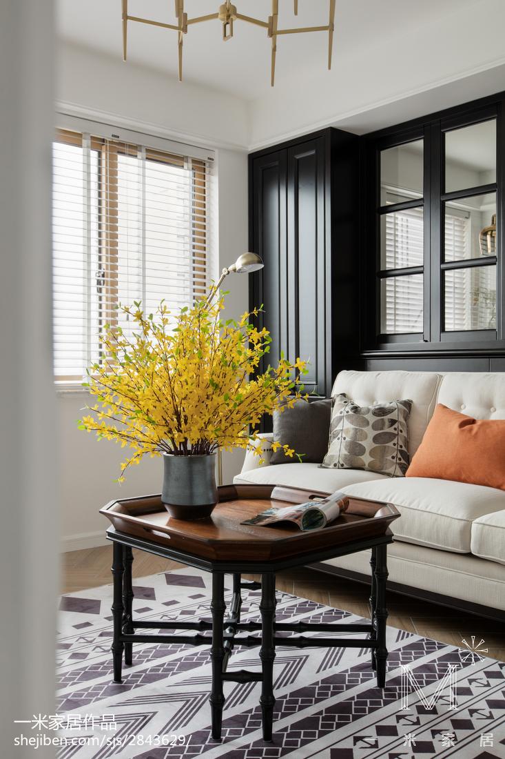 温馨121平美式三居客厅效果图欣赏