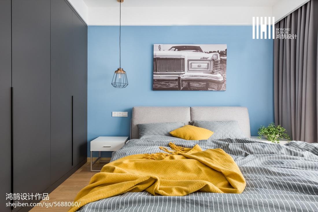 热门面积79平北欧二居卧室效果图片欣赏