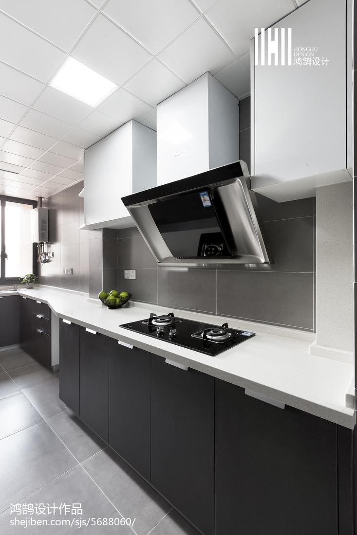 2018面积77平北欧二居厨房装修图