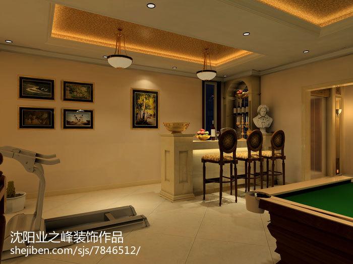 美式别墅家庭背景墙装饰效果图片