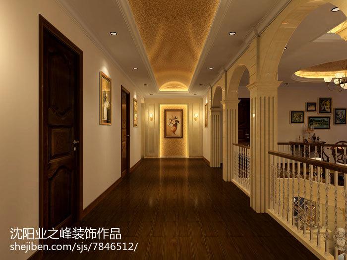 美式别墅书房室内效果图片