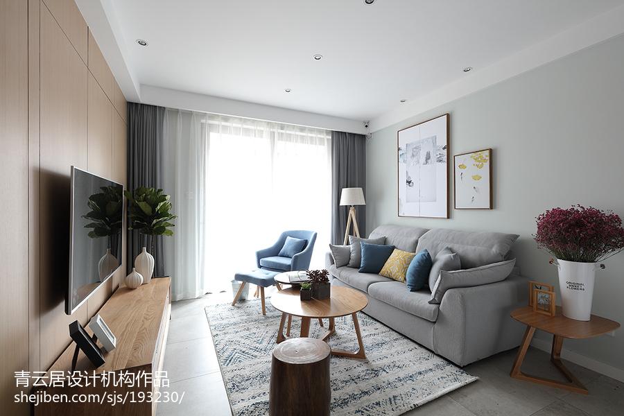 精选95平米三居客厅简约装修效果图片欣赏