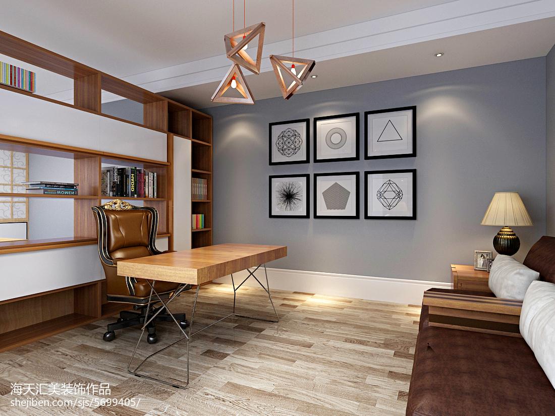 中式风格书房装修设计效果图片欣赏