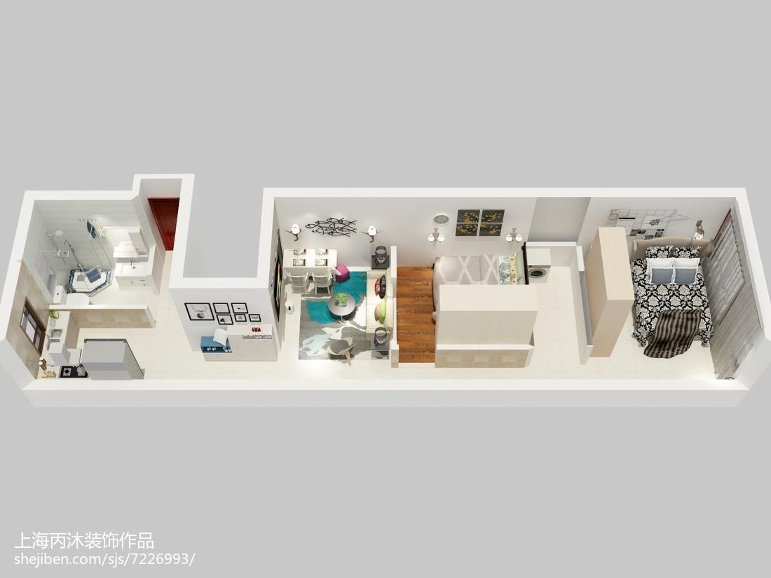 最新现代四居玄关装修实景图片