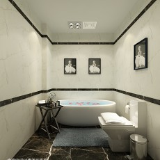 2018140平米东南亚复式卫生间装修设计效果图片欣赏