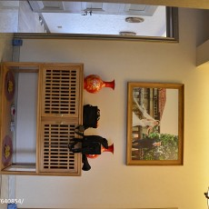 105平米三居玄关中式装饰图
