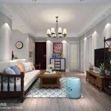 201886平米二居客厅美式装修实景图片欣赏