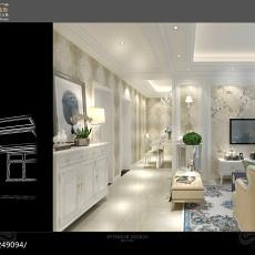 201872平米二居客厅欧式装修设计效果图片大全