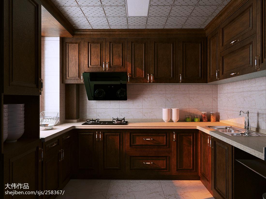 热门82平米简约小户型厨房装修效果图片欣赏