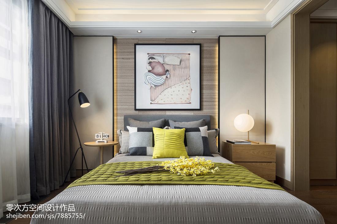 北歐臥室床頭背景墻