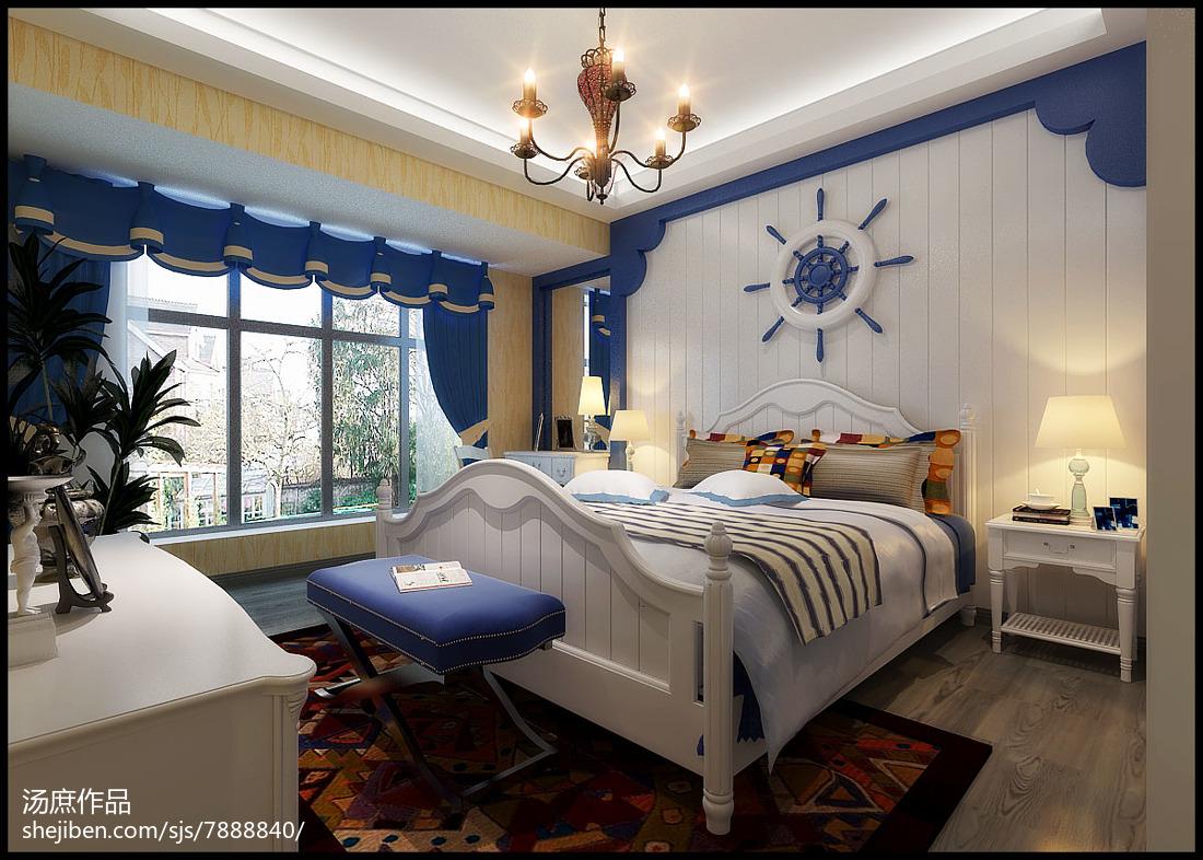2018地中海复式卧室装饰图片欣赏