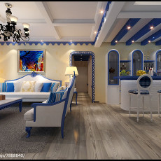 热门面积142平复式客厅地中海装修图