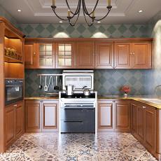面积96平现代三居厨房装饰图片欣赏