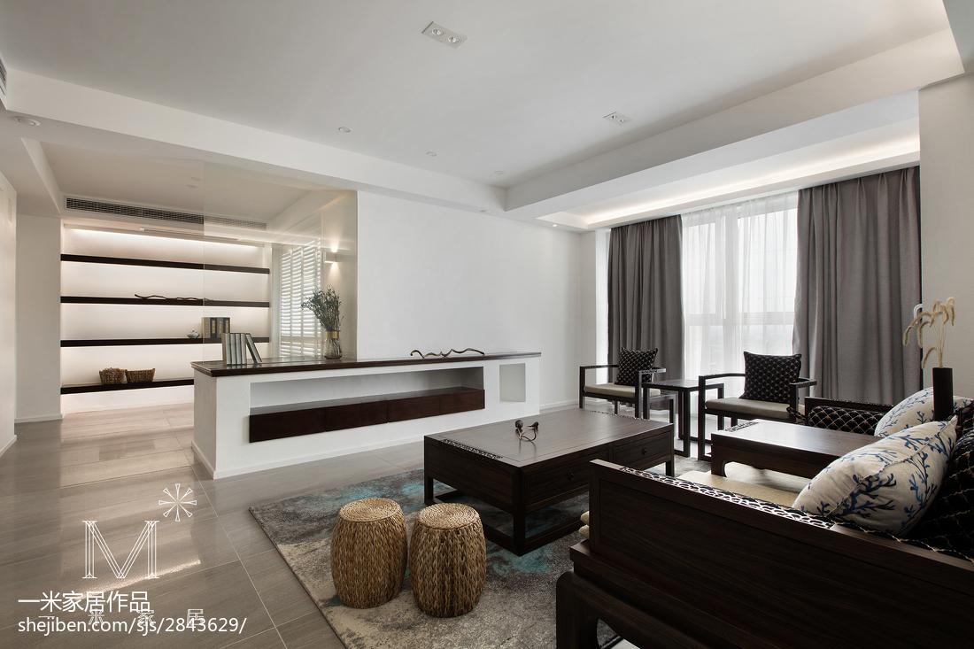 2018大小95平中式三居客厅效果图片