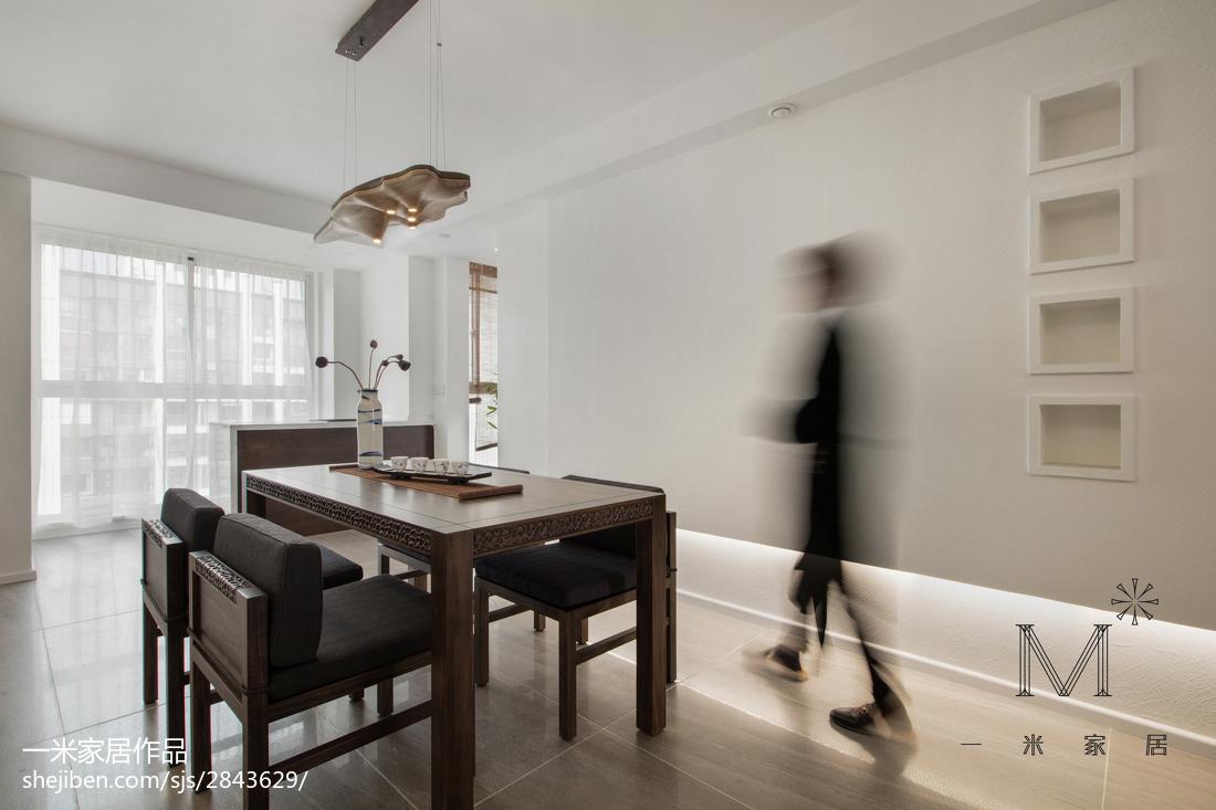 明亮90平中式三居餐厅装修图片
