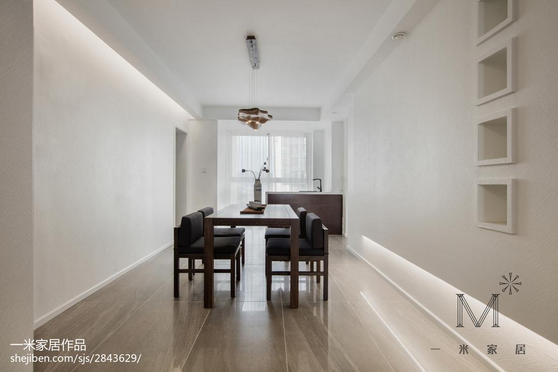 精美面积109平中式三居餐厅装修欣赏图片