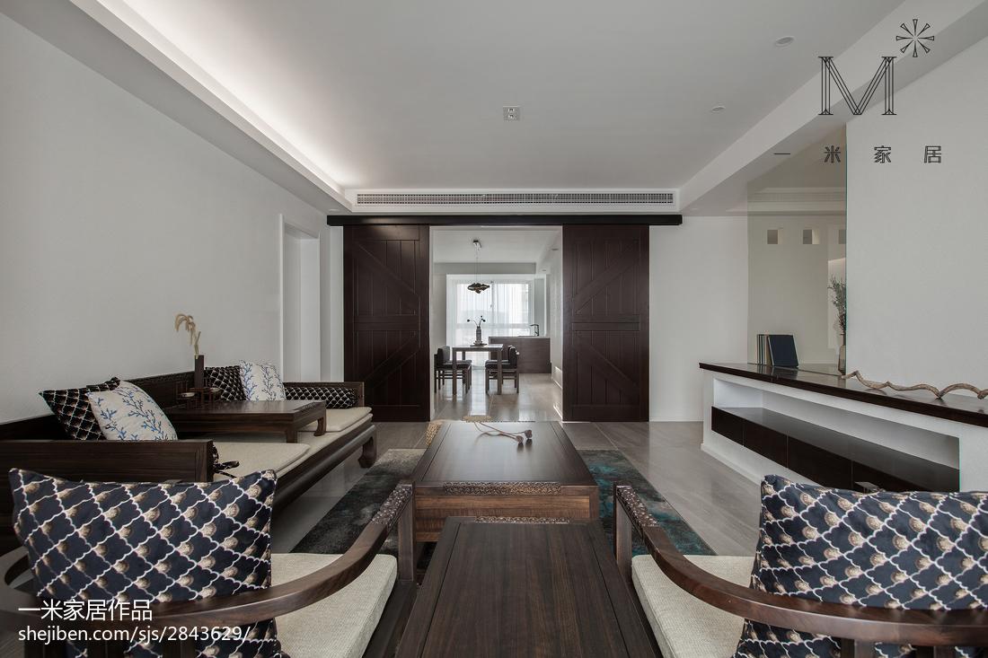 2018107平方三居客厅中式装修实景图片