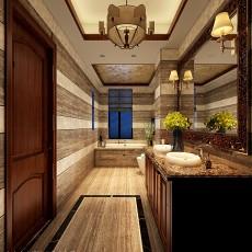 精选面积134平别墅卫生间中式装修图片欣赏