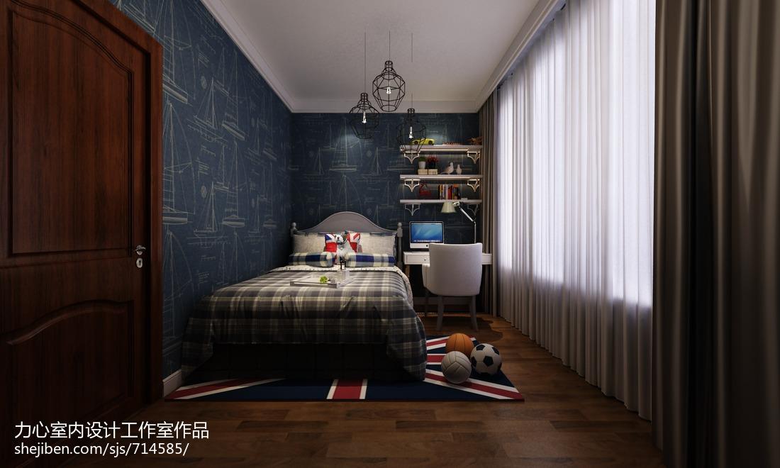 热门96平米三居卧室美式装修设计效果图片大全