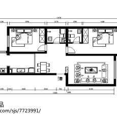 时尚现代风格两室两厅装修图