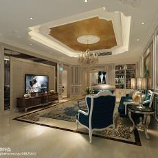 201899平方三居客厅欧式装修效果图