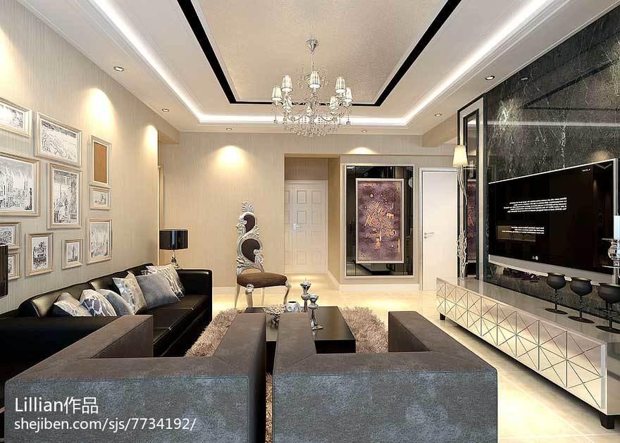 面积81平美式二居装饰图