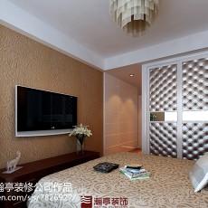混搭风格小三室一厅装修效果图