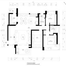 现代120平方米三室两厅装修效果图