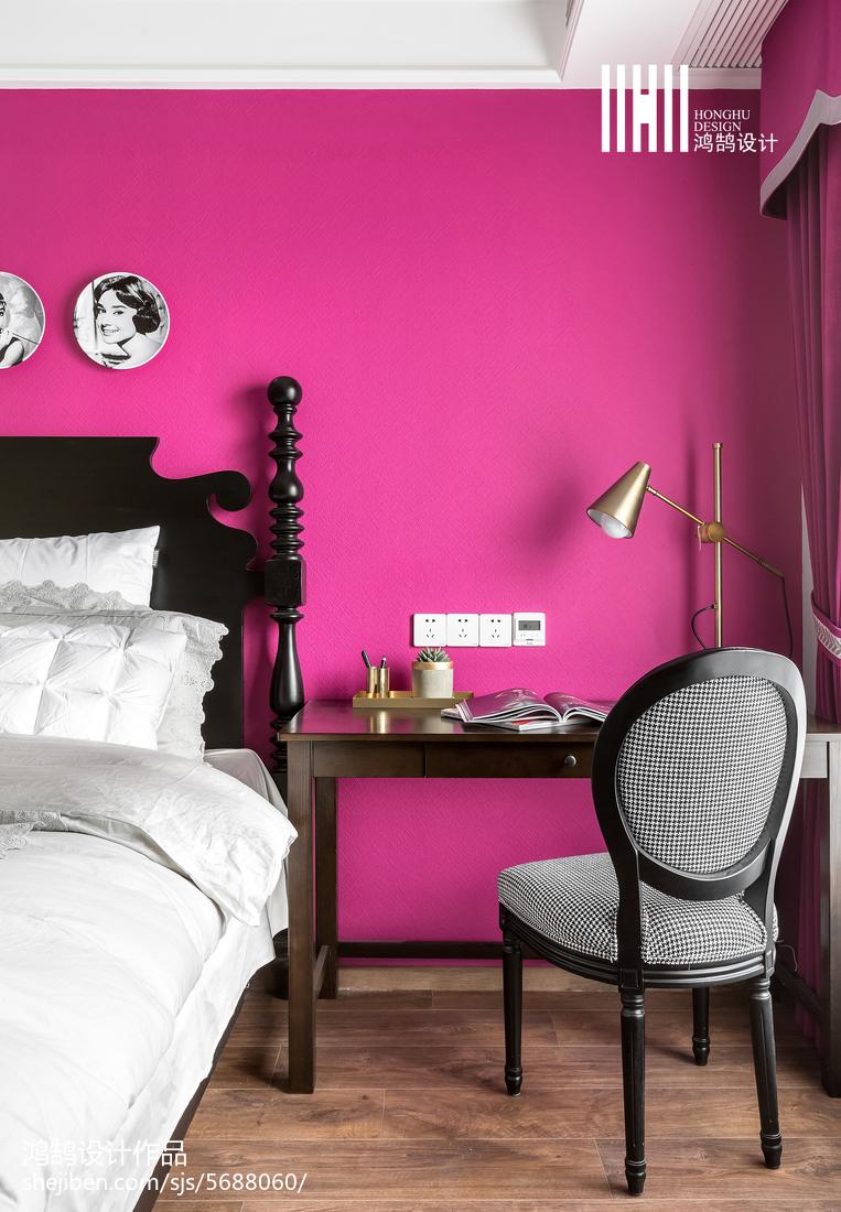 优美66平美式二居卧室图片欣赏
