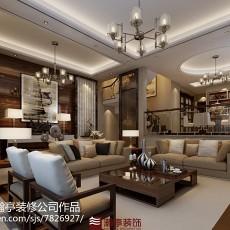 2018精选126平米现代别墅客厅装修设计效果图