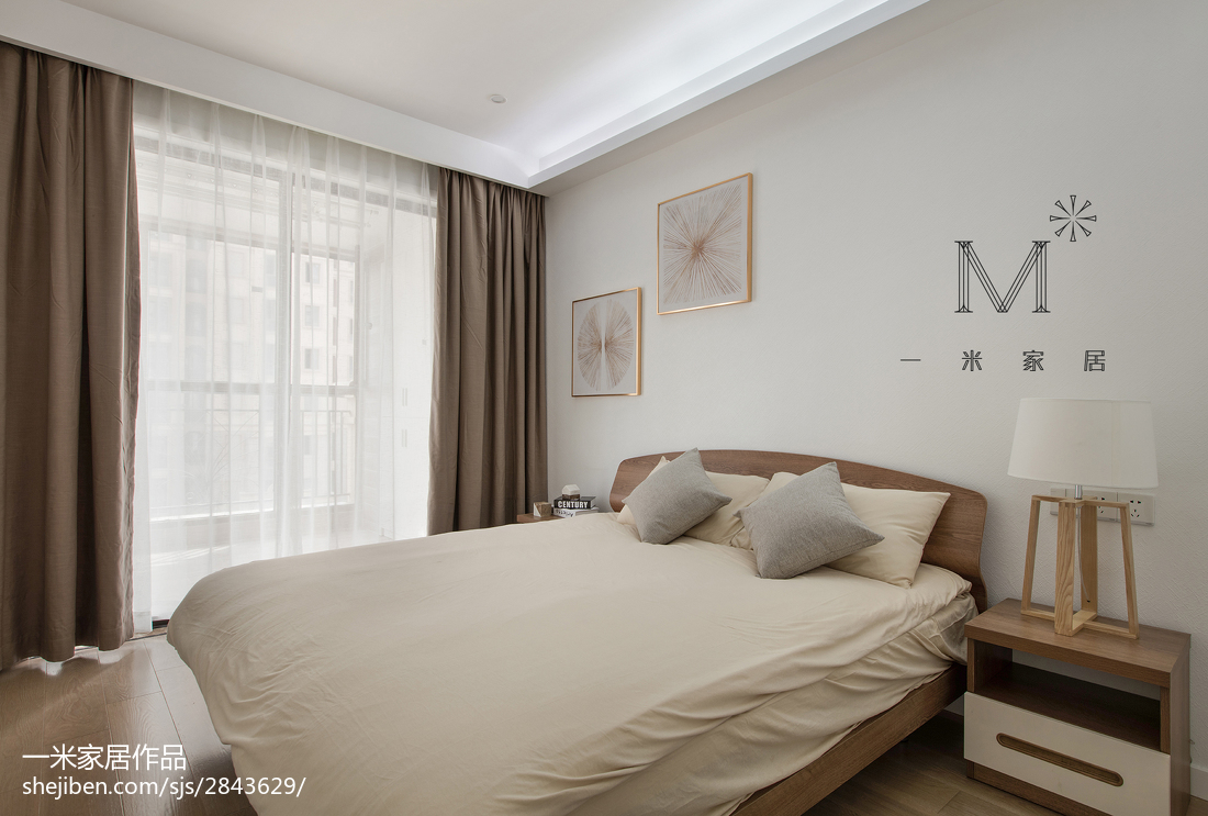 精美96平米三居卧室现代实景图片