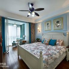 2018精选面积103平美式三居卧室装饰图片