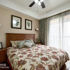 2018精选106平米三居卧室美式装修设计效果图片
