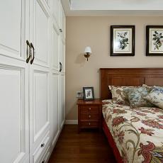 2018精选98平米三居卧室美式装修设计效果图片