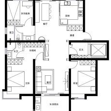 日式简约风格20平米二居室装修效果图