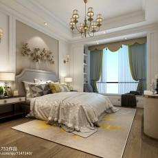 美式风格130平三室两厅装修效果图