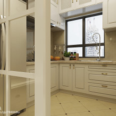 热门105平米三居厨房欧式装修实景图片