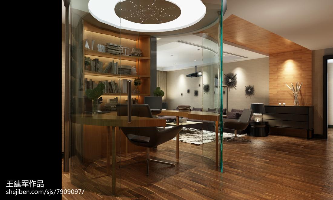 123平米四居书房现代装修实景图片大全