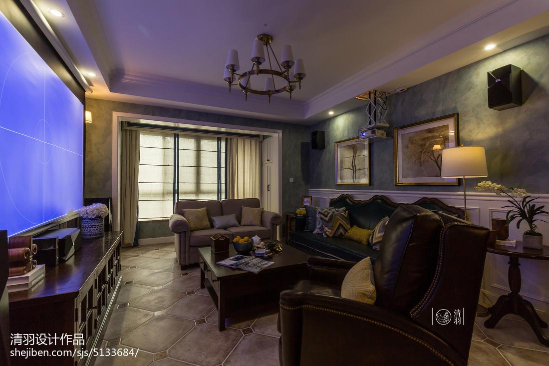 201899平米三居客厅美式装修图