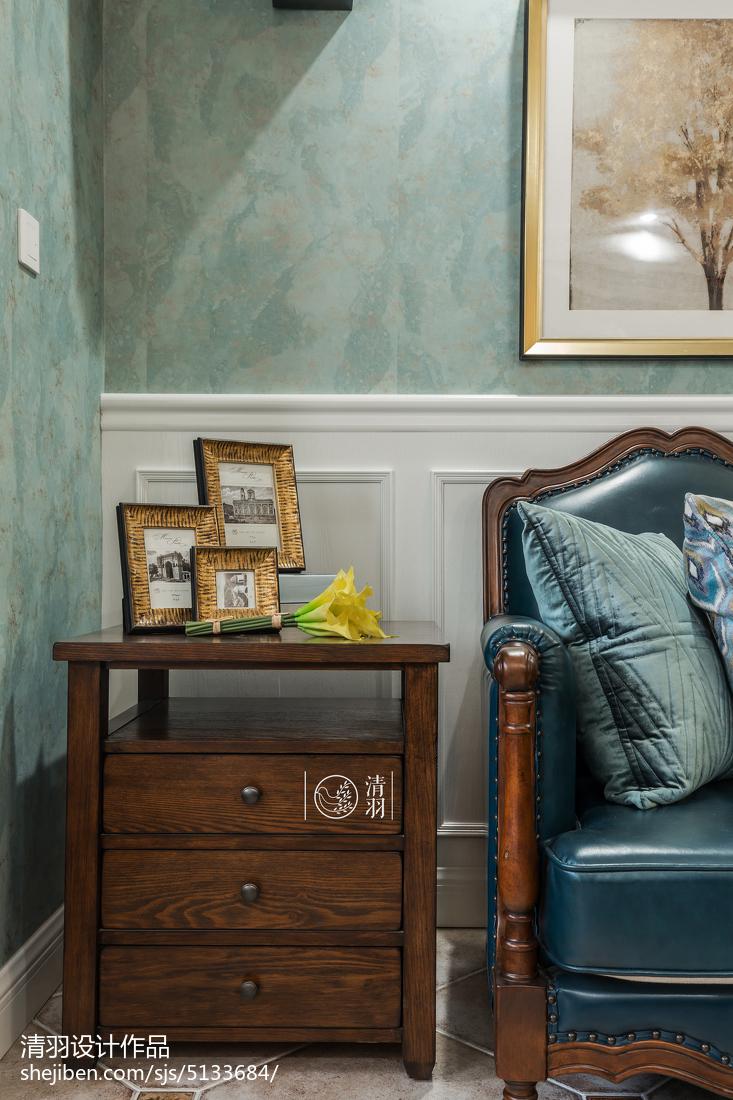 精选109平米三居客厅美式装修效果图片大全