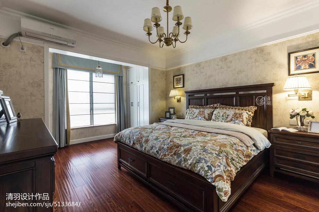 精选三居卧室美式装修欣赏图片