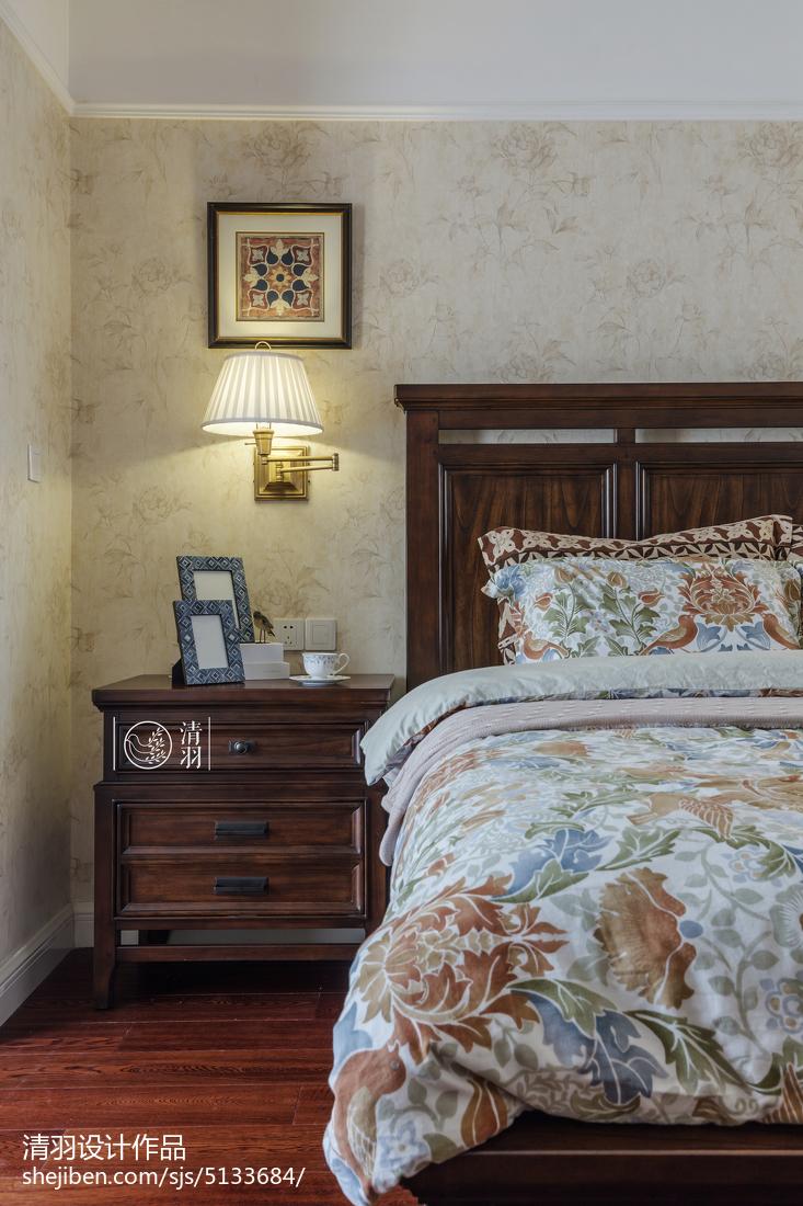 精选面积97平美式三居卧室装修设计效果图片欣赏
