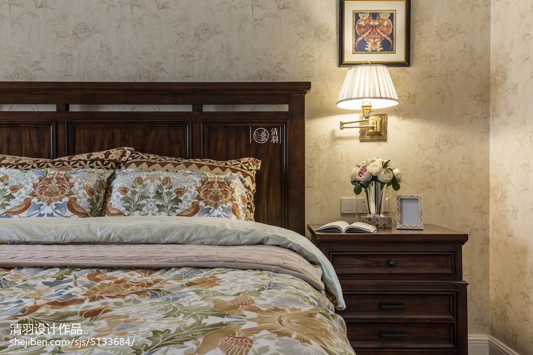 201891平米三居卧室美式效果图片大全