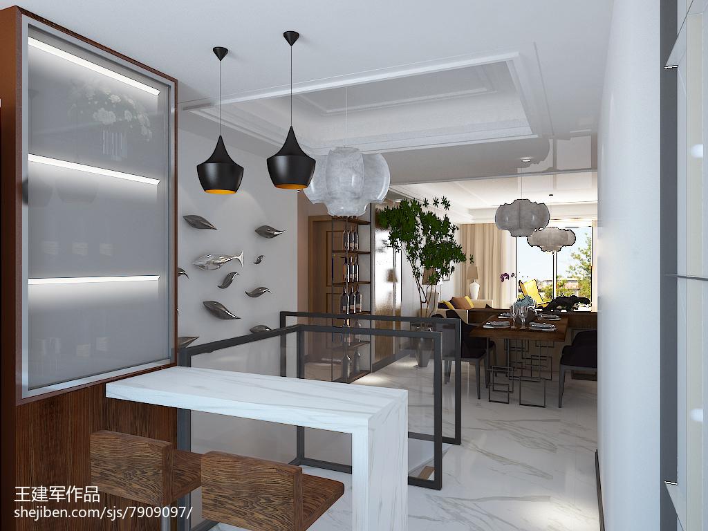 精美面积117平复式厨房现代装修欣赏图