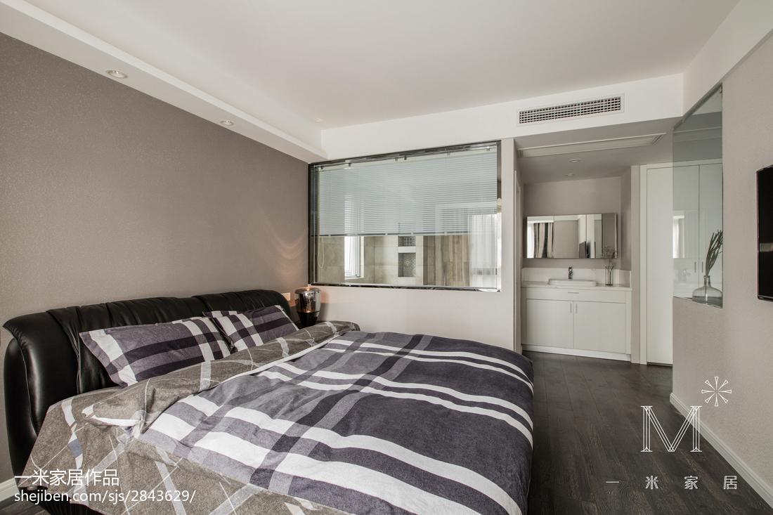 精美98平米三居卧室现代装修设计效果图片欣赏