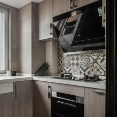 明亮95平现代三居厨房图片欣赏